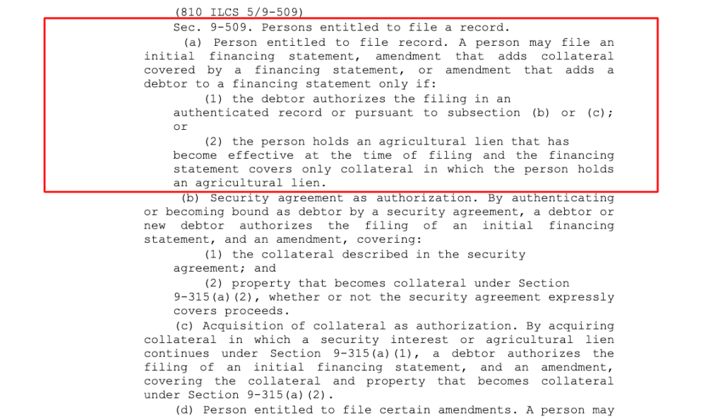 UCC Financing Statement Filing